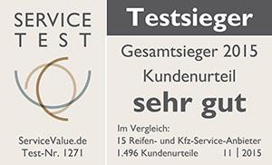 PNEUMOBIL ist Testsieger im Service Value Test 2015