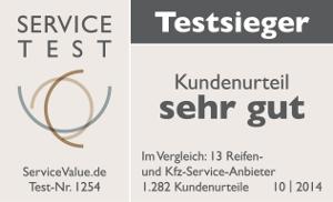 PNEUMOBIL ist Testsieger im Service Value Test 2014